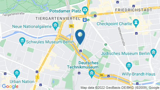 Scandic Berlin Potsdamer Platz Map