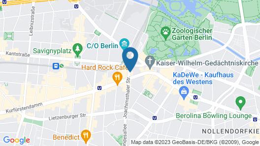 AZIMUT Hotel Kurfürstendamm Berlin Map