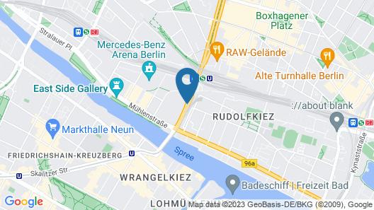 Michelberger Hotel Berlin Map