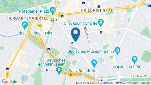 Novotel Suites Berlin City Potsdamer Platz Map