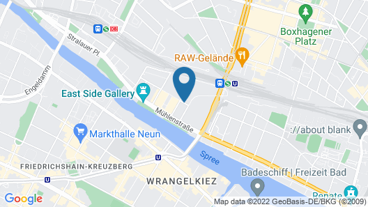 Holiday Inn Berlin - City East Side Map