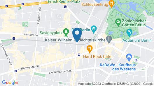 Hampton by Hilton Berlin City West Map