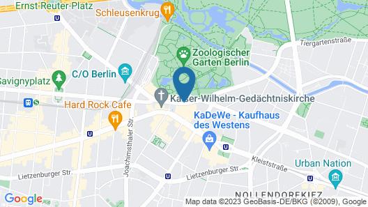 25hours Hotel Bikini Berlin Map