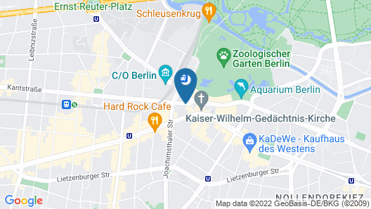 Motel One Berlin-Upper West Map