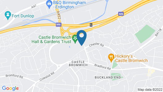 Castle Bromwich Hall, Sure Hotel Collection by Best Western Map