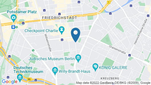 Mondrian Suites Berlin Checkpoint Charlie Map