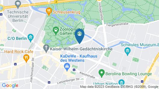 Pullman Berlin Schweizerhof Map