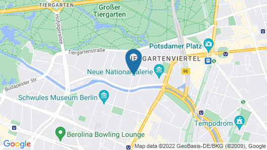 Hotel Berlin Central District Map