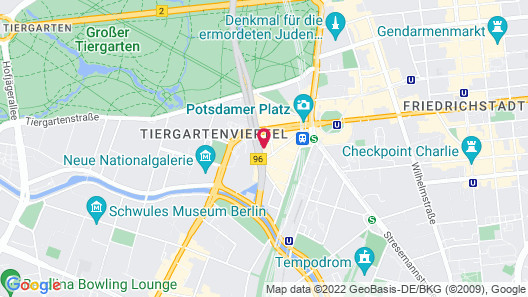 Grand Hyatt Berlin Map