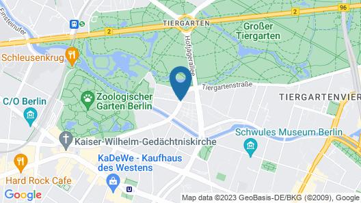 Pestana Berlin Tiergarten Map