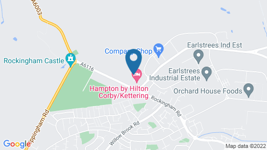 Hampton by Hilton Corby/Kettering Map