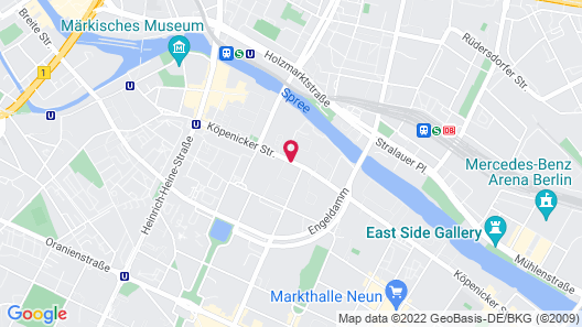 a&o Berlin Mitte Map