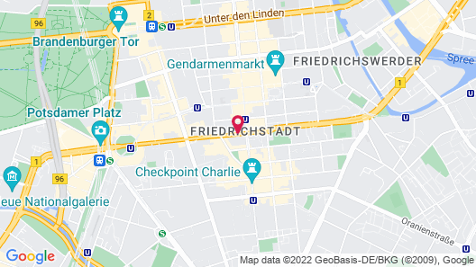 NH Collection Berlin Mitte am Checkpoint Charlie Map