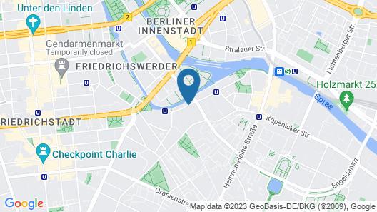 Park Plaza Wallstreet Berlin Mitte Map