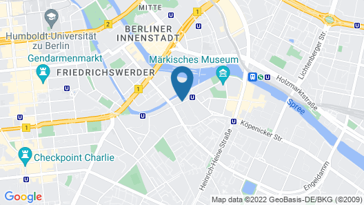 art'otel Berlin Mitte, part of Radisson Hotel Group Map