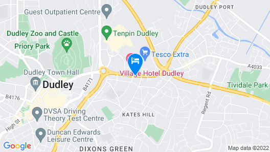 Quality Hotel Dudley Map