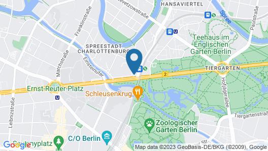 Novotel Berlin Am Tiergarten Map