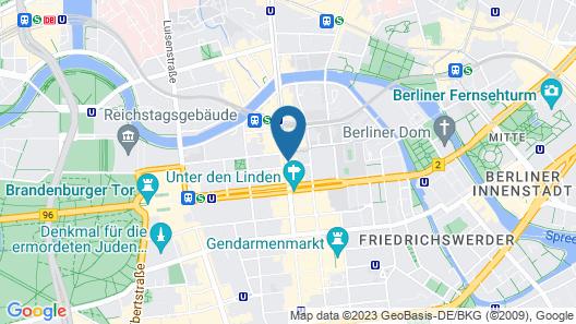 Maritim proArte Hotel Berlin Map