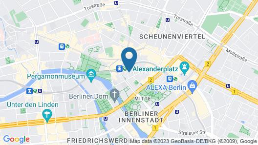 Adina Apartment Hotel Berlin Hackescher Markt Map