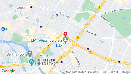 Park Inn by Radisson Berlin Alexanderplatz Map