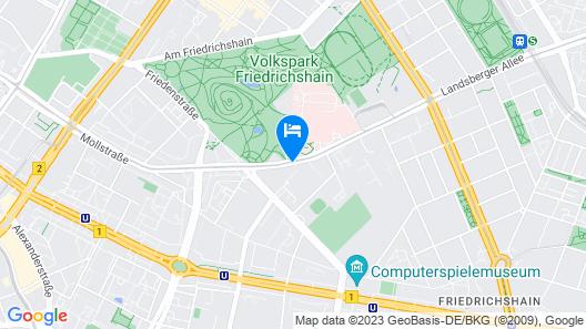 NH Berlin Alexanderplatz Map