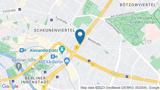 one80º Hostel Berlin Map