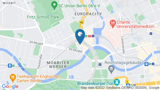 IntercityHotel Berlin Hauptbahnhof Map