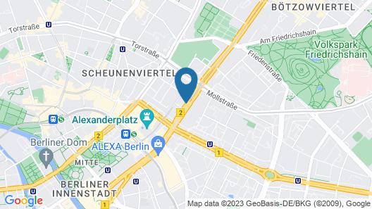 Holiday Inn Berlin - Centre Alexanderplatz Map