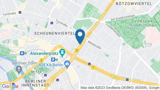 VISIONAPARTMENTS Berlin Otto-Braun-Strasse Map