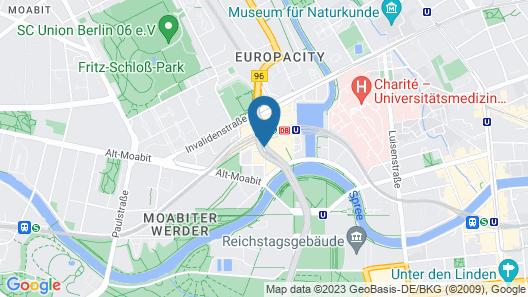 MEININGER Hotel Berlin Hauptbahnhof Map