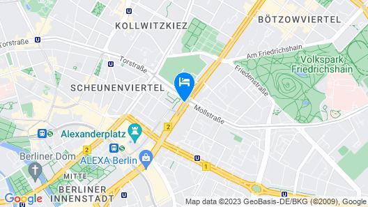 Hampton By Hilton Berlin City Centre Alexanderplatz Map