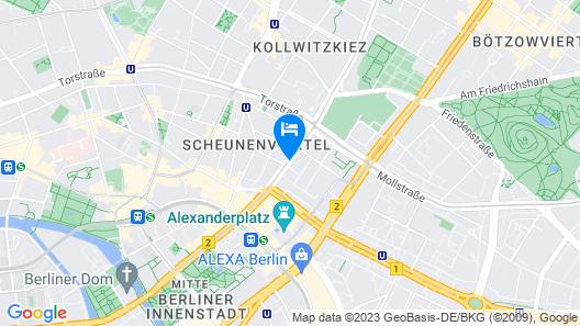 H2 Hotel Berlin Alexanderplatz Map
