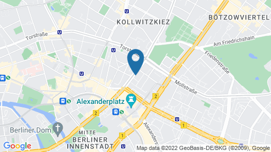 H4 Hotel Berlin Alexanderplatz Map