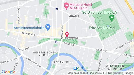 MEININGER Hotel Berlin Tiergarten Map
