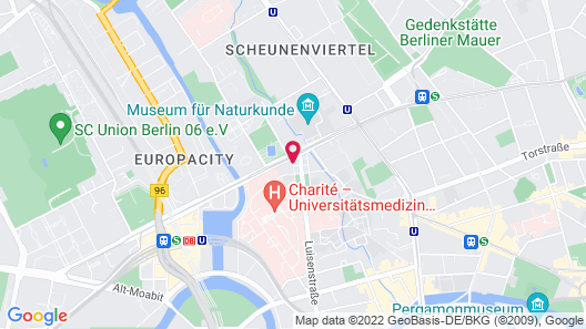 Adina Apartment Hotel Berlin Mitte Map