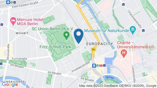 a&o Berlin Hauptbahnhof Map