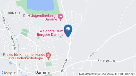 Waldhotel zum Bergsee Damme Map