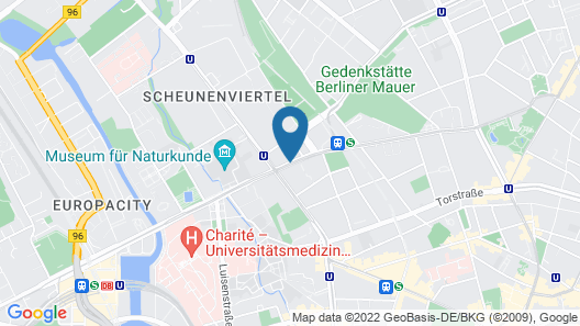 Boutique Hotel i31 Berlin Mitte Map