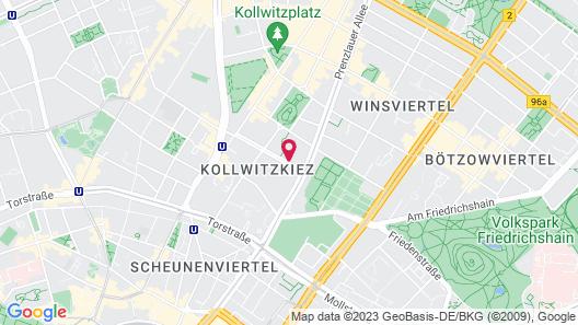 Myer's Hotel Berlin Map