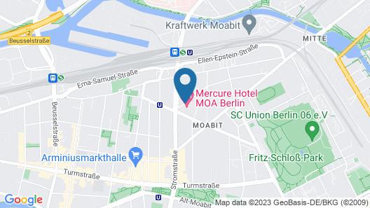Mercure Hotel MOA Berlin Map