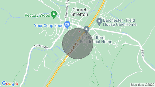 Beautiful Quiet Accommodation in the Heart of Church Stretton's Hills Map