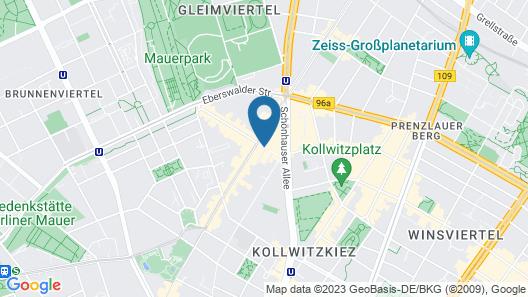 Hotel Oderberger Berlin Map