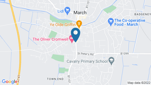 Oliver Cromwell Hotel Map