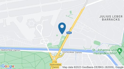 Mercure Airport Hotel Berlin Tegel Map