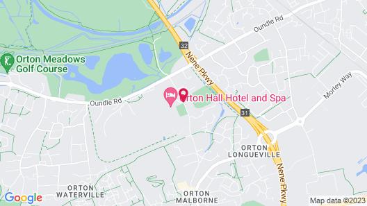 Best Western Plus Peterborough Orton Hall Hotel & Spa Map