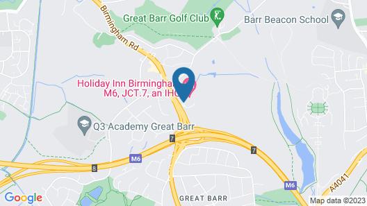 Holiday Inn Birmingham M6 Jct7 Map