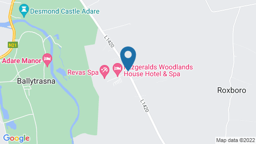 Fitzgerald's Woodlands House Hotel Map
