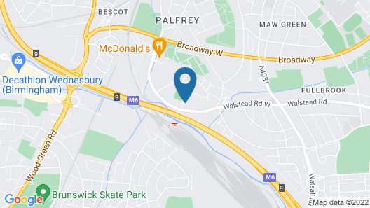 Park Inn by Radisson Birmingham Walsall M6 J9 Map