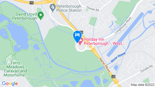 Holiday Inn Peterborough West Map