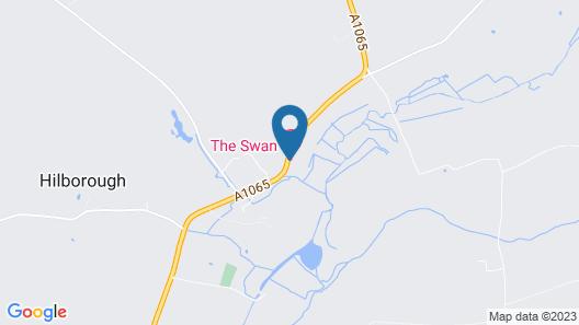 Hilborough Swan Inn Map